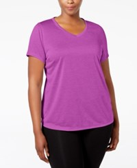 Ideology Plus Size Essential V Neck Performance T Shirt Only At Macy's Purple Cactus