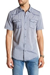 Burnside Short Sleeve Novelty Woven Shirt Blue