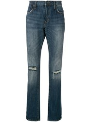 John Varvatos Distressed Detail Jeans Blue