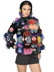 Fendi Monsters Patchwork Fur Jacket