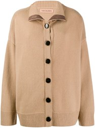 Yves Salomon Dropped Shoulder Cardigan Neutrals