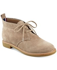 Tommy Hilfiger Blaze Lace Up Oxford Booties Women's Shoes Taupe
