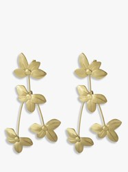 Dyrberg Kern Monifa Flower Statement Drop Earrings Gold