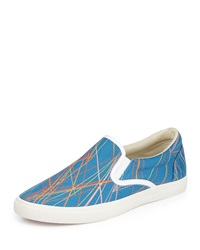 Bucketfeet Lasers Canvas Lace Up Sneaker Blue
