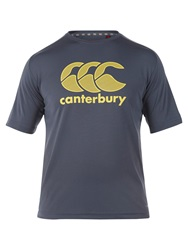 Canterbury Of New Zealand Vapodri Poly Logo T Shirt Carbon