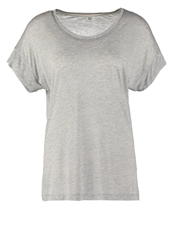 Noa Noa Basic Tshirt Grey Melange Mottled Grey