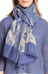 Eileen Fisher Women's Linen And Organic Cotton Ikat Scarf
