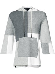 Mostly Heard Rarely Seen Patchwork Shortsleeved Hoodie Grey