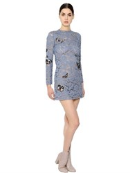 Valentino Butterfly Patches On Lace Dress