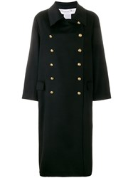 Christian Dior Vintage Cashmere Double Breasted Coat Black