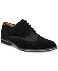 Bar Iii Men's Axel Suede Wingtip Oxfords Only At Macy's Men's Shoes Black