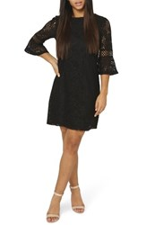 Dorothy Perkins Lace Flare Cuff Shift Dress Black