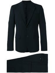 Prada Notched Lapel Suit Black