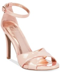 Material Girl Sara Two Piece Dress Sandals Only At Macy's Women's Shoes Nude Patent