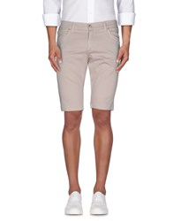 Roberto Pepe Trousers Bermuda Shorts Men Light Grey