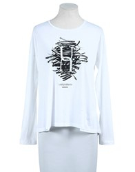 Uniqueness Topwear Long Sleeve T Shirts Women White