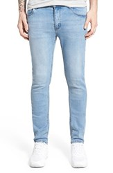 Men's Cheap Monday 'Tight' Skinny Fit Jeans Stonewash Blue