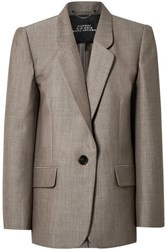 Marc Jacobs Oversized Wool And Mohair Blend Blazer Gray