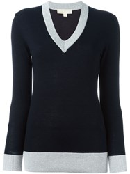Michael Michael Kors V Neck Sweater Blue
