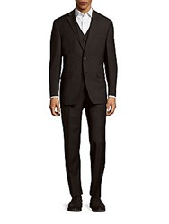 Lauren Ralph Lauren Wool Three Piece Suit Charcoal