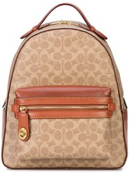 Coach Signature Canvas Campus Backpack Brown