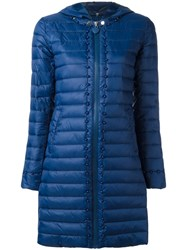 Twin Set Padded Hooded Coat Blue