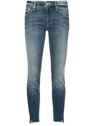 Mother Regular Skinny Jeans Blue