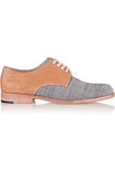 Esquivel Leather And Canvas Brogues Brown