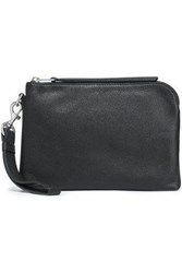 Rebecca Minkoff Woman Bree Textured Leather Pouch Black