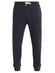 American Vintage Cotton Fleece Track Pants Navy