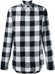 Christian Dior Homme Concealed Fastening Checked Shirt Black