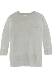 Frame Denim Le Crew Wool And Cashmere Blend Sweater