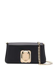 Balmain Logo Plaque Cross Body Bag Black
