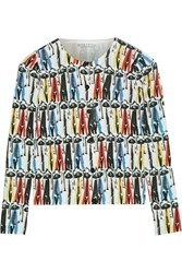 Alice Olivia Stacey Montage Printed Cotton Cardigan