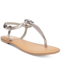 Bar Iii Velvet Thong Sandals Only At Macy's Women's Shoes Blush