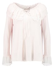 Cream Lucy Long Sleeved Top Pink Tint Beige