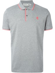 Pringle Of Scotland Embroidered Logo Polo Shirt Grey