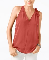 Guess Sleeveless V Neck Top Mecca Orange