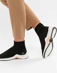 Kurt Geiger Kg Black Sock Trainers With Neon Trim