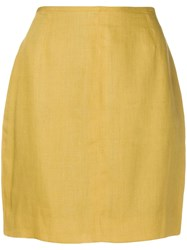 Jean Paul Gaultier Vintage 1990'S High Rise Mini Skirt Yellow