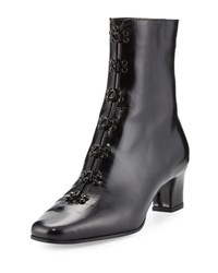 Olivier Theyskens Python Patent Leather Boot Black