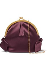 Nanushka Oana Knotted Satin Shoulder Bag Burgundy