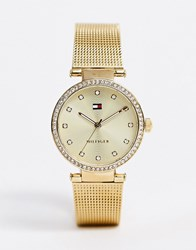 Tommy Hilfiger 1781864 Lynn Mesh Watch In Gold