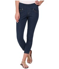 Hue Denim Shaping Capri W Wide Waistband Medium Wash Women's Capri Navy