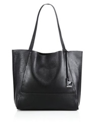 Botkier New York Soho Zipper Trimmed Leather Tote Black