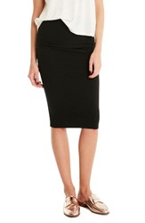 Michael Stars Women's Ruched Pencil Skirt Black