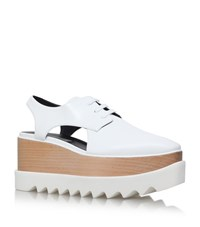 Stella Mccartney Elyse Cut Out Platform Shoe Female White