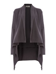 Label Lab Jersey Charcoal Throw On Cardigan Charcoal