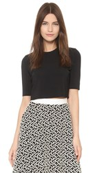 Lela Rose Crop Top Black