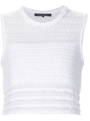 Thakoon Addition Knitted Cropped Tank White